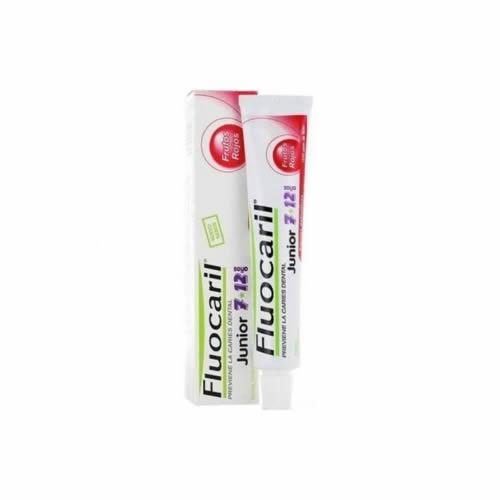 Fluocaril junior 6-12 años (1 envase 75 ml frutos rojos)