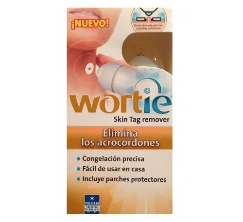 Wortieskin tag remover + parche protector (tubo 50 ml + 6 parches)