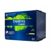 Tampax compak tampon 100%algodon (super 22 u)
