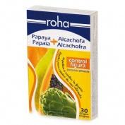 Roha papaya + alcachofa comprimidos recubiertos (30 comprimidos)