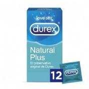 Durex natural plus - preservativos (12 unidades)